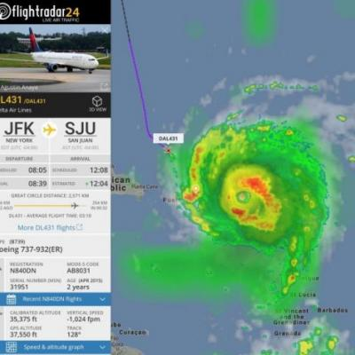 Were You On This Delta Plane That Flew Into Hurricane Irma?