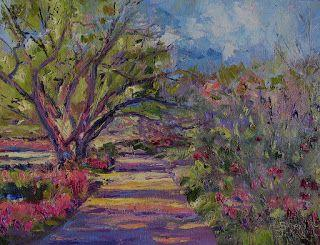 Park Parade of Color, New Contemporary Landscape painting by Sheri Jones