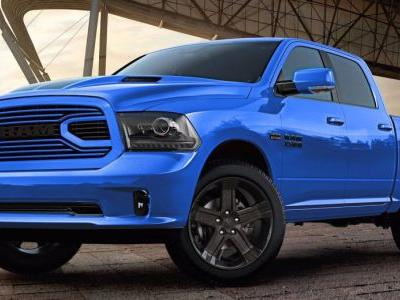 2018 Ram 1500 Hydro Blue Sport Edition Puts Gets A Racy French Kiss