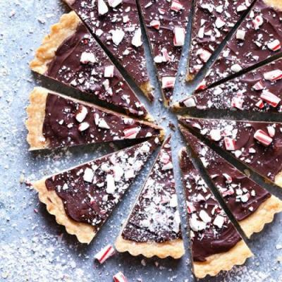 Chocolate Peppermint Shortbread