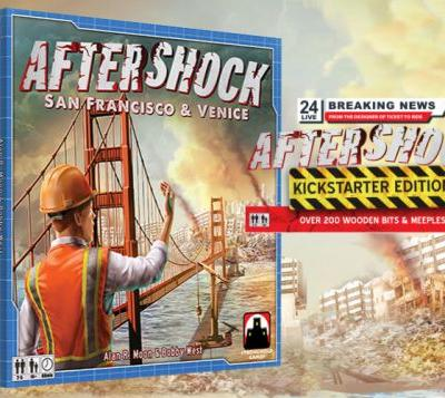 Aftershock board game from the designer of Ticket to Ride