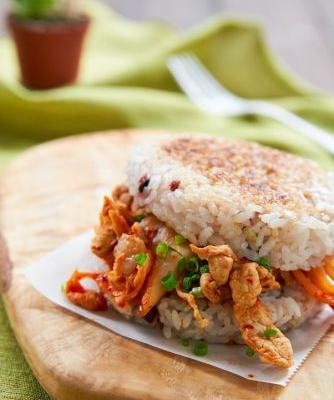 Less Than 45 Minute Kimchi Rice Sandwich