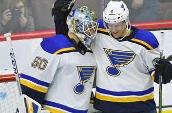 Binnington earns shutout in his first NHL start, Blues beat Flyers 3-0
