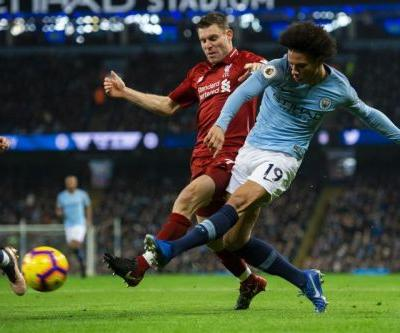 Watch: Manchester City's Leroy Sane beats Liverpool with goal off post