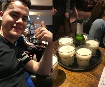 Man's request for birthday drinks at Wetherspoons backfires when strangers send him milk and Fruit Shoots