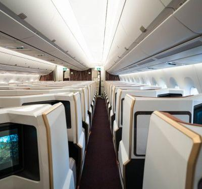 These 12 airplane interior cabin designs could be the future of air travel, from beds in economy class to an onboard spa