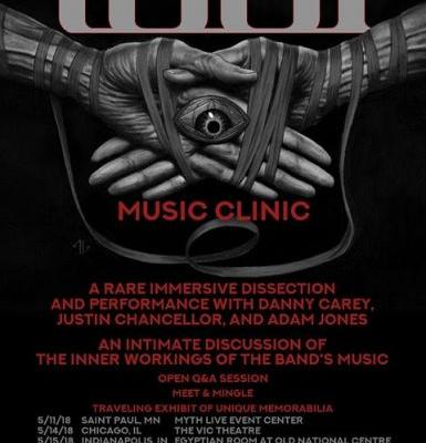 """Tool To Host """"Music Clinics"""" For Fans Next Month"""