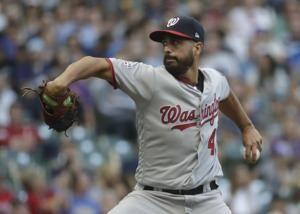 Chacin, Yelich lead Brewers past Nationals 6-1