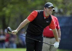 The Latest: Koepka shatters 36-hole record for majors