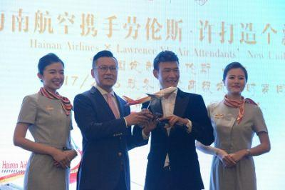 Hainan Airlines partner with fashion designer Lawrence Xu in design of new uniform