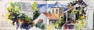 Journal Entry.ance 2018..Watercolor.. Texas Artist..Rae Andrews