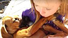 Girl Singing Lullabies To Her Newly Adopted Puppy Will Melt Your Heart