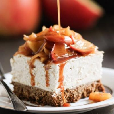 Healthy Apple Cheesecake