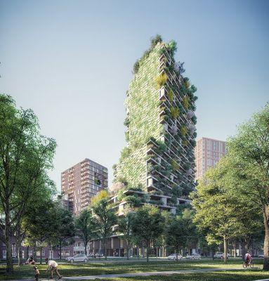 A stunning new smog-eating 'vertical forest tower' will feature luxury apartments and 300 species of plants