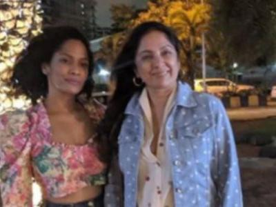 Neena Gupta slays the denim-on-denim look in mini shorts and jacket on day out with daughter