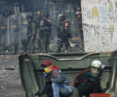 Violence in Venezeula as troops block aid delivery