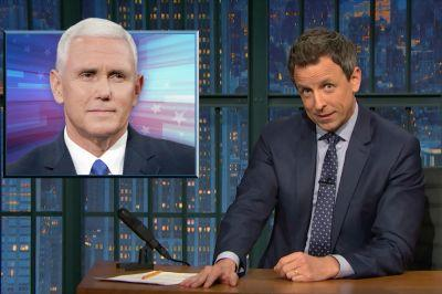 Seth Meyers Wonders If Mike Pence Is Shading Donald Trump's Late Night Tweets