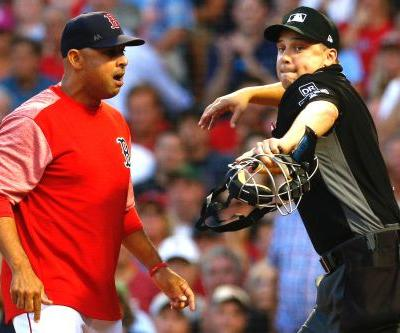 Alex Cora ejected as Yankees-Red Sox fireworks start early