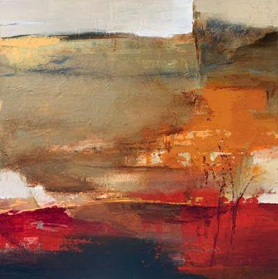 "Contemporary Art, Abstract Landscape Painting, Fine Art for Sale ""Shifting Horizon"" by Intuitive Artist Joan Fullerton"
