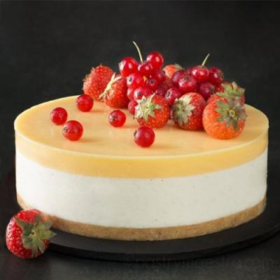Mascarpone and Lemon Mousse Cake
