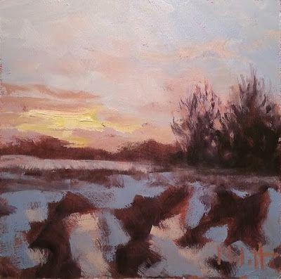 Winter Landscape Painting 25% off off all Art Heidi Malott