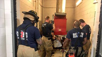 That stinks! Man seeking dropped phone falls in trash chute