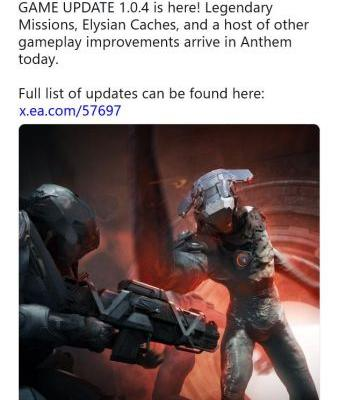 Anthem gets a game update that is literally a mile long