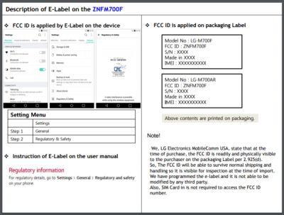 LG-M700F Smartphone Running Android Nougat Visits The FCC