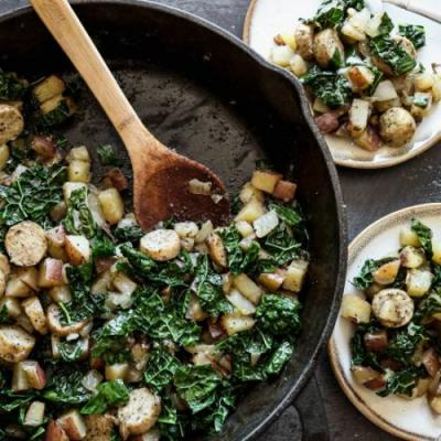 Sausage, Kale and Potato Skillet
