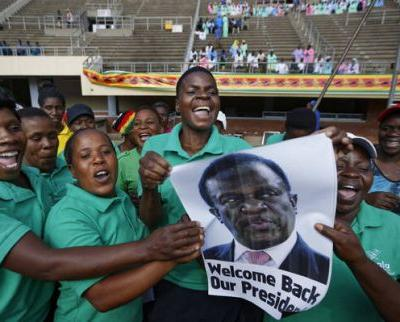 The Latest: Zimbabweans ready to greet country's new leader