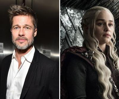 Brad Pitt Really Wants To Watch 'Game of Thrones' With Emilia Clarke