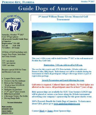 2nd Annual William Danny Givens Memorial Golf Tournament