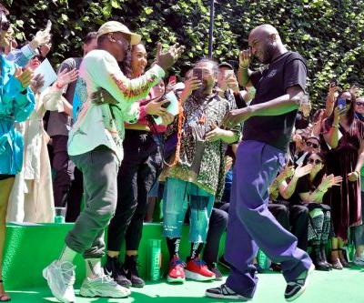 Watch Kanye West & Virgil Abloh Share an Emotional Hug at Louis Vuitton's PFW Show