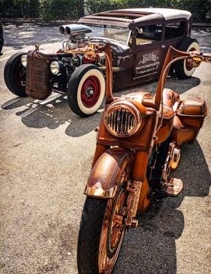 Leather Bagger and a Hot Rod