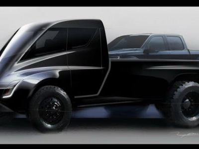 Tesla Pickup Truck Teased, Looks Like A Giant Toy Car