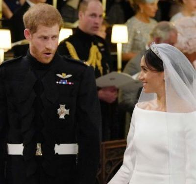 People are convinced Prince Harry said 'I'm sh--ing it' to Meghan Markle at the altar