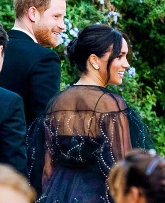 Meghan Markle Wore a Beautifully Sheer Dress to Her BFF's Wedding in Rome
