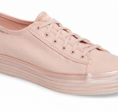 These New Shimmery Pink Keds Sneakers Are All We Want in Life