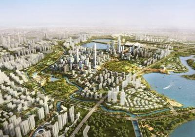 Sasaki Completes Master Plan for New Urban District next to Wuhan's High-Speed Rail
