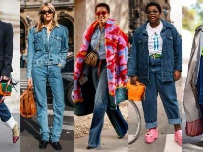 The Street Style Crowd Wore Blue Denim on Day 7 of Paris Fashion Week