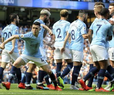 Foden scores first Premier League goal against Tottenham to help Man City put European heartbreak behind them