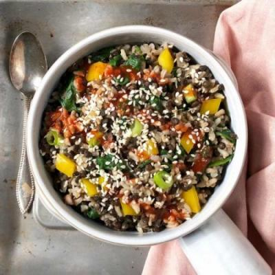 Ginger Sesame Black Lentil Bowl