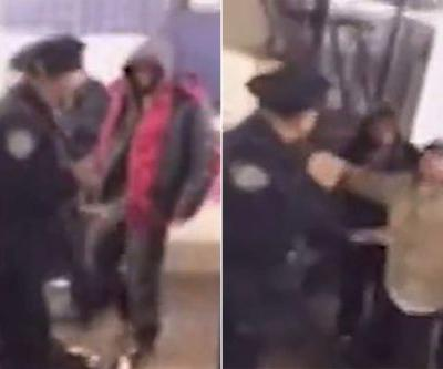 Cop honored after fighting off vagrants in a subway station
