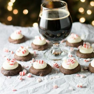 Peppermint Chocolate Stout Cookies