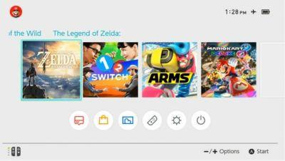 Treehouse Stream Offers a Look at the Current Nintendo Switch UI Home Screen