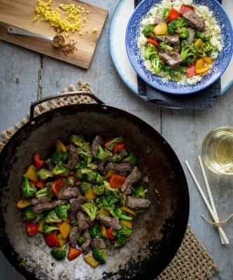 Clean eating beef and broccoli stir-fry