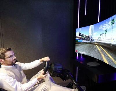 LG Bendable Cinematic Sound OLED display bends and vibrates
