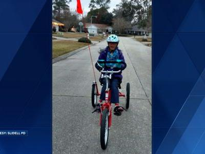 'If you have a heart or conscience, return it': Louisiana police seeks special needs girl's stolen custom tricycle