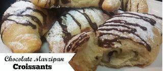 Chocolate Marzipan Croissants