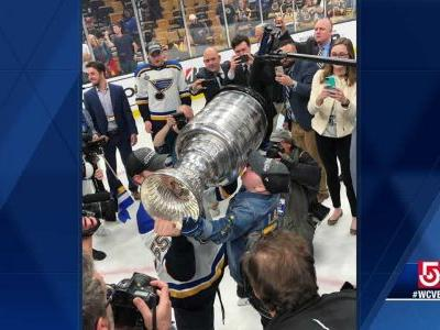 Blues superfan with life-threatening immune disease lifts Stanley Cup